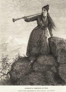 nordic_sami_woman_playin_lur_horn_late_1800s
